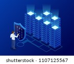 isometric personal data... | Shutterstock .eps vector #1107125567