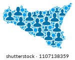 population sicilia map.... | Shutterstock .eps vector #1107138359