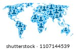 population world map....   Shutterstock .eps vector #1107144539