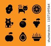 zoo  vegetarian  orange and... | Shutterstock .eps vector #1107149564