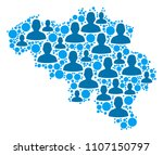 population belgium map.... | Shutterstock .eps vector #1107150797