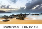 winter's day at the beach  ... | Shutterstock . vector #1107154511