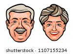 aged people. happy grandfather... | Shutterstock .eps vector #1107155234
