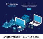 cryptocurrency system and... | Shutterstock .eps vector #1107156551