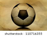 Vintage soccer ball - stock photo