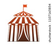 circus tent isolated red lines | Shutterstock .eps vector #1107165854