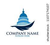 capital office logo design | Shutterstock .eps vector #1107174107