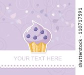 cute happy birthday card with... | Shutterstock .eps vector #110717591