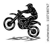 moto cross logo | Shutterstock .eps vector #1107180767