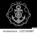 rhinestone applique design for... | Shutterstock .eps vector #1107183887