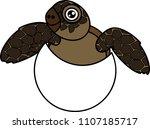 cute cartoon sea turtle... | Shutterstock .eps vector #1107185717