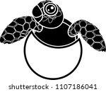 black silhouette of cute... | Shutterstock .eps vector #1107186041