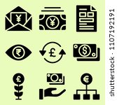 icon set of related sterling ... | Shutterstock .eps vector #1107192191