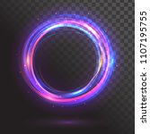 a glowing circle. round frame | Shutterstock .eps vector #1107195755