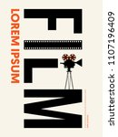 movie and film modern retro... | Shutterstock .eps vector #1107196409