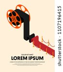 movie and film modern retro... | Shutterstock .eps vector #1107196415