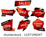 summer sale isolated vector... | Shutterstock .eps vector #1107198347