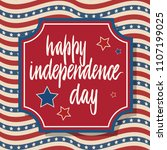 united states independence day... | Shutterstock .eps vector #1107199025