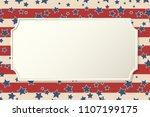 american patriotic background.... | Shutterstock .eps vector #1107199175