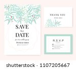 wedding card invitation... | Shutterstock .eps vector #1107205667