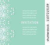 invitation or card templates...   Shutterstock .eps vector #1107215159