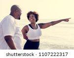 african american couple working ... | Shutterstock . vector #1107222317