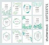 wedding card invitation... | Shutterstock .eps vector #1107223721