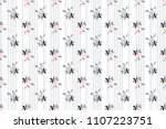 flower pattern pastle on... | Shutterstock .eps vector #1107223751