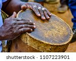 percussionist playing a... | Shutterstock . vector #1107223901