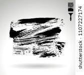 black brush stroke and texture. ...   Shutterstock .eps vector #1107227174