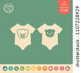 baby rompers icon | Shutterstock .eps vector #1107228929