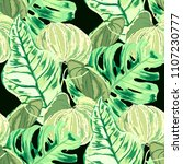 seamless pattern with tropical... | Shutterstock .eps vector #1107230777