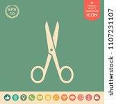 scissors icon symbol | Shutterstock .eps vector #1107231107