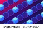 isometric blockchain mining... | Shutterstock .eps vector #1107241064