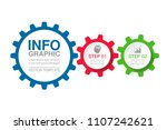 vector infographic template for ... | Shutterstock .eps vector #1107242621