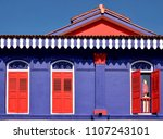 front view of colorful heritage ... | Shutterstock . vector #1107243101