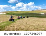 friends driving off road with...   Shutterstock . vector #1107246077