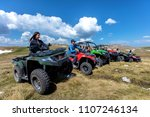 friends driving off road with...   Shutterstock . vector #1107246134