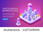 cryptocurrency marketplace... | Shutterstock .eps vector #1107249044