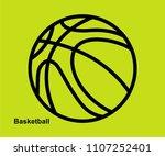 basketball vector icon  | Shutterstock .eps vector #1107252401