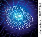 artificial intelligence... | Shutterstock .eps vector #1107257441