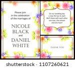 vintage delicate invitation...   Shutterstock .eps vector #1107260621