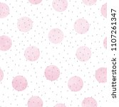 vector seamless pattern of pink ... | Shutterstock .eps vector #1107261347