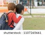 mother get a son pupil... | Shutterstock . vector #1107265661