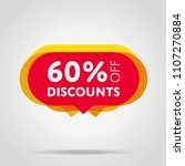 special offer sale red tag... | Shutterstock .eps vector #1107270884