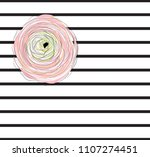 pink flower  two stripes... | Shutterstock .eps vector #1107274451