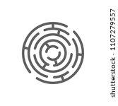 maze icon vector in trendy flat ... | Shutterstock .eps vector #1107279557