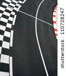 Car Race Asphalt And Curb On...