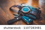 car key  watch and wallet   Shutterstock . vector #1107283481