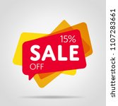 special offer sale red tag... | Shutterstock .eps vector #1107283661